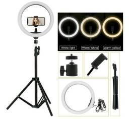 Título do anúncio: Ring Light 30cm Profissional +Suporte para celular +Tripé regulável até 2,1m