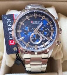 Título do anúncio: Relógio Curren em aço três chaves Novo Original (aceito cartão )