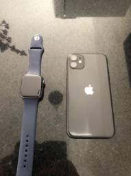 Combo IPhone 11 64gb Apple Watch 4 44mm aluminium
