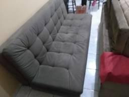 Título do anúncio: Vendo um sofá-cama semi-novo carro marrom.