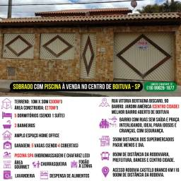 Título do anúncio: Sobrado com Piscina SPA, 5 Quartos, Home Office e Espaço Gourmet no Centro de Boituva - SP