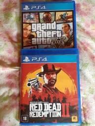 Título do anúncio: Jogos PS4 - GTA e RDR2