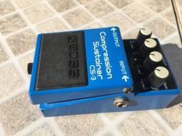 Pedal Boss CS 3 Compressor Sustain parcelo no cartão/Ml