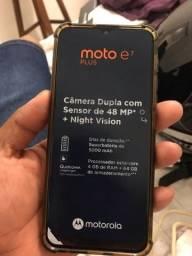 Título do anúncio: Vendo Moto E7 Plus impecavel