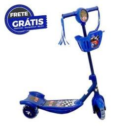 Título do anúncio: Patinete 3 Rodas Infantil Musical Com Luzes E Cesta Azul
