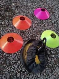 Cones de treino com 12 barato só pra desocupar ideal pra running
