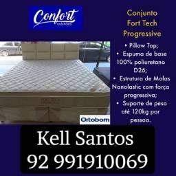 Título do anúncio: Cama cama #CONFORT COLCHÕES ORTOBOM# !!COMPRE E GANHE!!