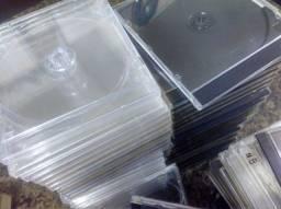 Título do anúncio: Lote com 141 Caixas Jewel Case para CD e DVD