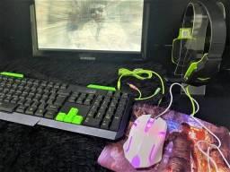Combo Gamer - Teclado, Mouse, Mousepad e Headset (Lojas WiKi)