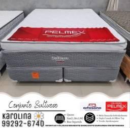 Cama Queen sizer !!!  Tecido antederrapante pillowtop duplo