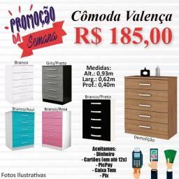 Título do anúncio: CÔMODA VALENÇA - 5 GAVETAS