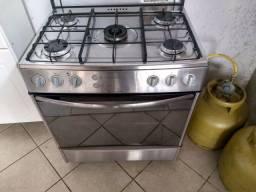 Título do anúncio: Fogão Bosch inox 5 bocas & grill