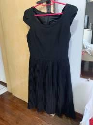 Título do anúncio: Vestido preto bonequinha com saia de drapeado