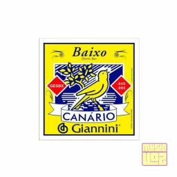 Encordoamento Baixo 4 Cordas Giannini Canário 040 Gesbx