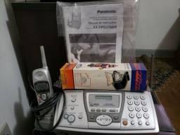 Título do anúncio: Fax Panasonic com secretaria eletrônicace  telefone sem fio