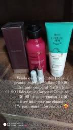 Perfume hidratantes e batom