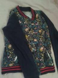 Jaqueta casaco com botões tamanho 14 anos