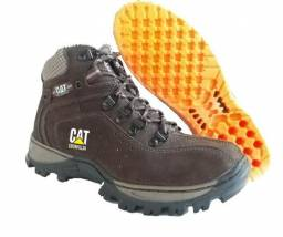 Coturno Boot Caterpillar Couro Nobuck
