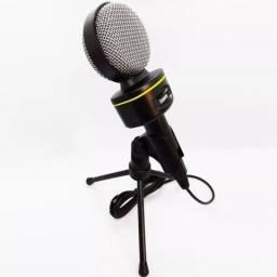 Microfone Multimídia Tomate com Tripé de mesa