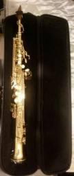 Sax soprano eagle 508, 2 tudeis e boquilha bob Oliver de massa