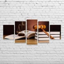 Quadro Decorativo Advocacia, Advogado, Justiça, Dama da Justiça, Advogada