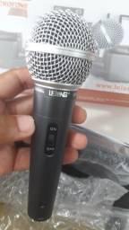 Microfone Profissional TOP Com Fio Cabo 5 metros