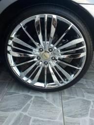 Troco rodas aro 20 cromada por outras pretas
