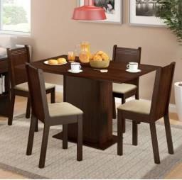 Mesa de Jantar de com 4 cadeiras
