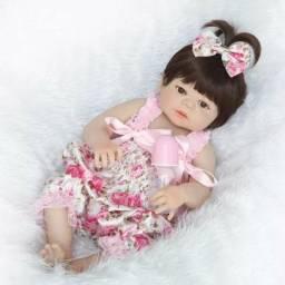 Boneca bebê reborn toda em silicone