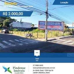 Terreno para aluguel em Jacaraípe, 747m²
