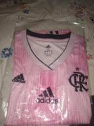 Blusa feminina flamengo Adidas outubro rosa