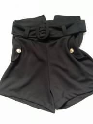 Shorte cintura alta com cinto