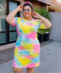 vestido Longo Tie Dye Plus Size