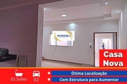 Título do anúncio: Casa Nova - 2 Dormitórios e 2 Suítes - Região Leste - Franca SP