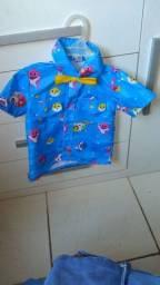 Blusa infantil baby shark