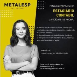 Título do anúncio: Estagiário Contábil