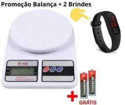 Título do anúncio: Promoção Balança Digital 10Kg + 1 Relógio Led Sport + 2 Pilhas De Brindes