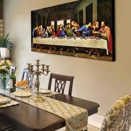 Lindo Quadro Santa Ceia Apóstolos Novo