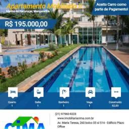 Título do anúncio: Cima Vende: Apto/Loft mobiliado 62m² na Marina de Itacuruça. aceito Carro e Propostas!