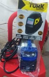 Título do anúncio: Máquina de Solda Touch 150 Boxer + Máscara Super tork +Luva Alta