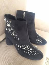 Sapato Bota Cano Curto Carmen Steffens Super Promo R$ 200