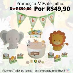 Kit Festa Personalizado Safari para Festa (FAZEMOS TODOS OS TEMAS )