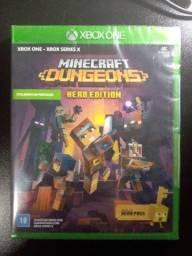 Título do anúncio: Minecraft Dungeons Hero Edition Xbox One Lacrado (Leia o anúncio)