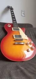 Título do anúncio: OPORTUNIDADE* Kit Guitarra Completo! Les Paul Strinberg + Amplificafor +