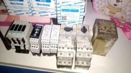 Título do anúncio: Vendo contactora de 40 amperes e relé temporizador 3