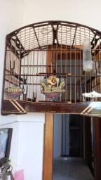 gaiola de luxo para trinca ferro  padrão torneio