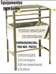 PROMOÇÃO CHURRASQUEIRA INOX