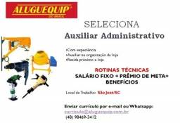 Título do anúncio: Auxiliar Administrativo para São José