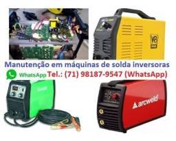 Título do anúncio: Manutenção em máquinas de solda inversoras. Whatsapp: *