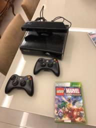 Xbox 360 slim preto, Kinect, super conservado